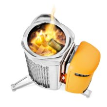Electricity Generating Wood Camp Stove