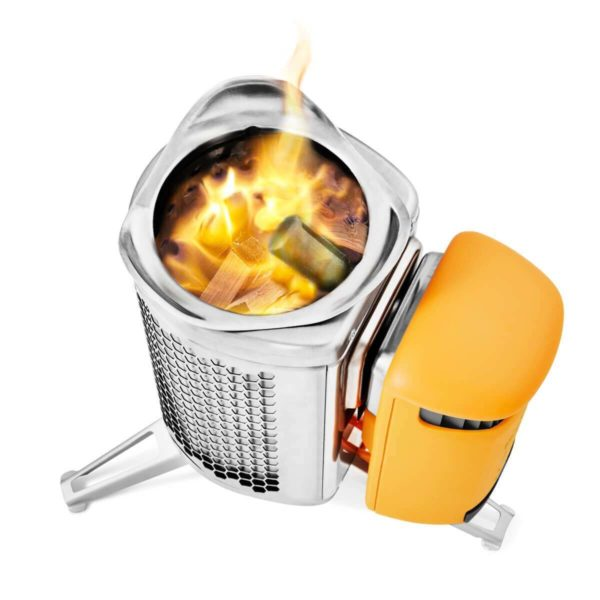 electricity-generating wood camp stove