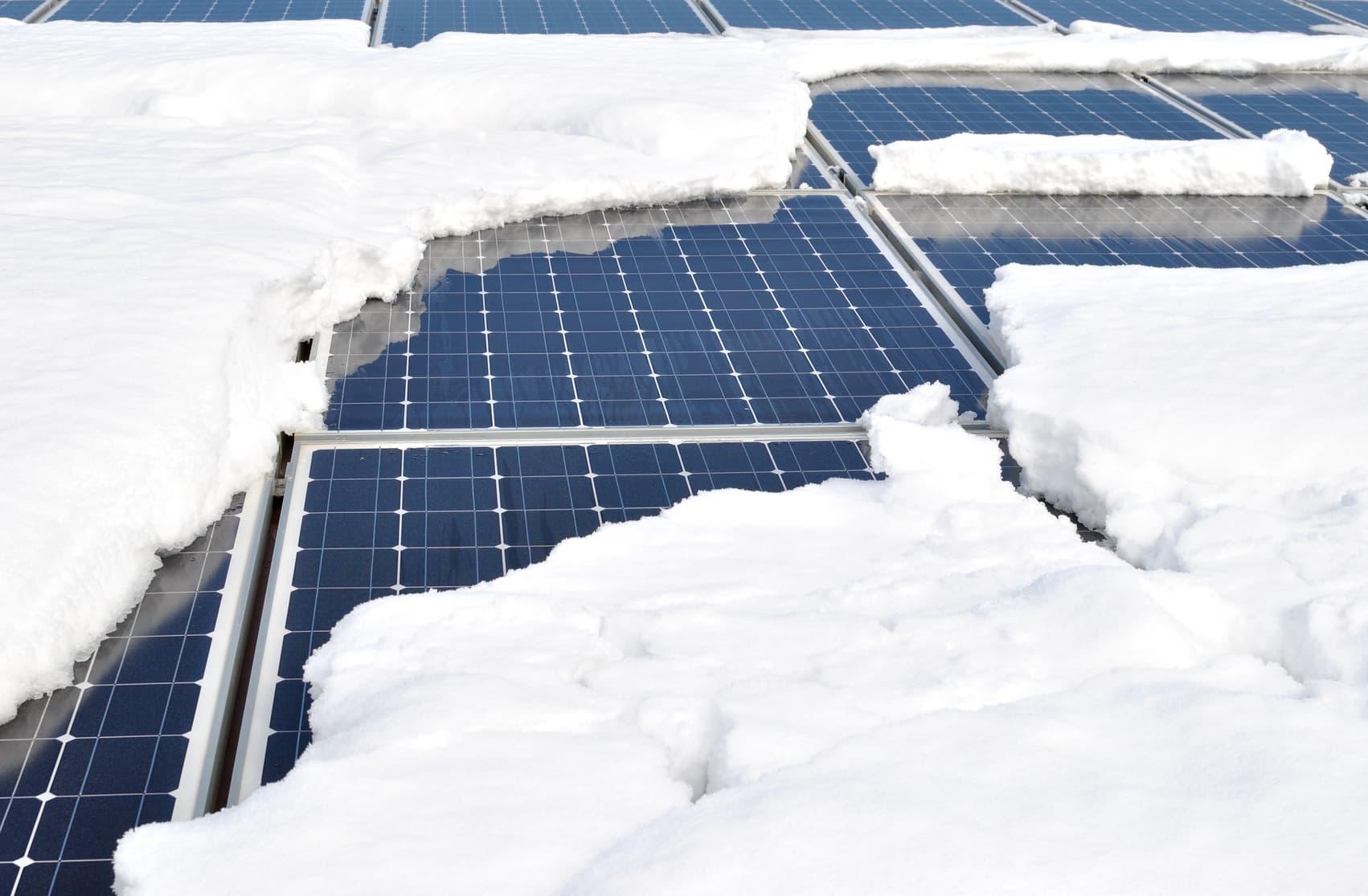 off grid solar in snow
