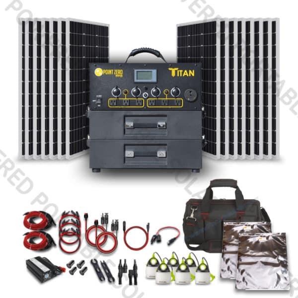 titan solar generator 1500w solar kit for rv