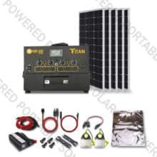 titan solar generator 500w solar kit for RVs