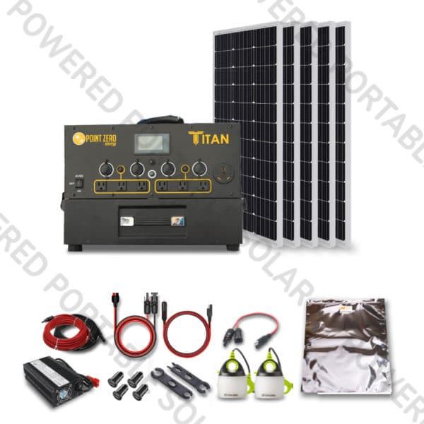 titan solar generator 500w solar kit for RVs